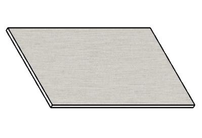 Kuchyňská pracovní deska 100 cm aluminium mat