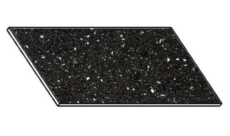 Kuchyňská pracovní deska 120 cm ANDROMEDA černá