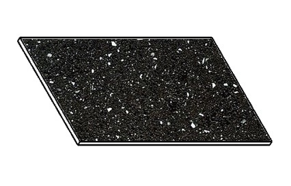 Kuchyňská pracovní deska 80 cm ANDROMEDA černá