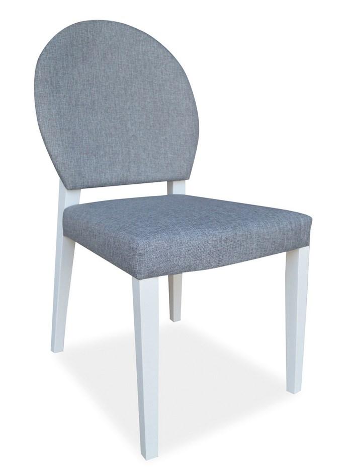 Jídelní čalouněná židle ALDO bílá