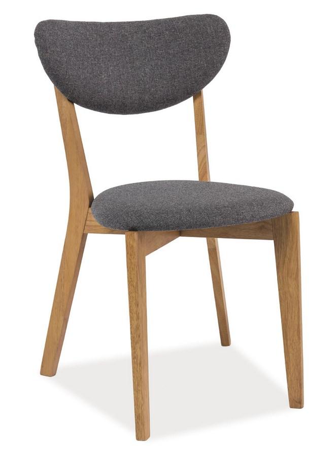 Jídelní čalouněná židle ANDRE šedá/dub