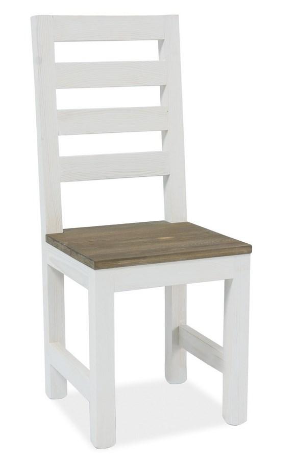 Jídelní dřevěná židle BESKID ořech/bílá