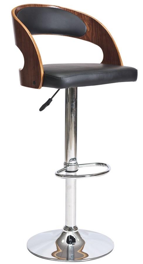 Barová židle KROKUS C-091 ořech/černá