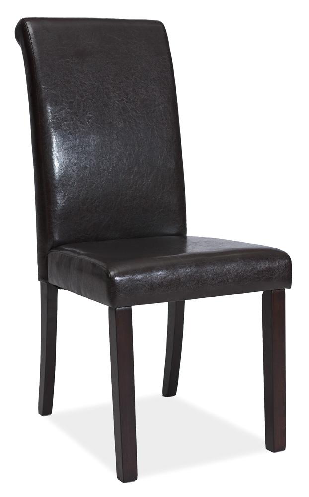 Jídelní čalouněná židle C-111 wenge/tmavě hnědá