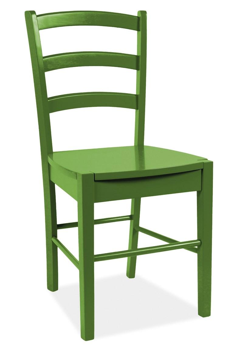 Jídelní dřevěná židle CD-38 zelená