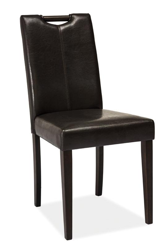 Jídelní čalouněná židle CD-76 wenge/tmavě hnědá
