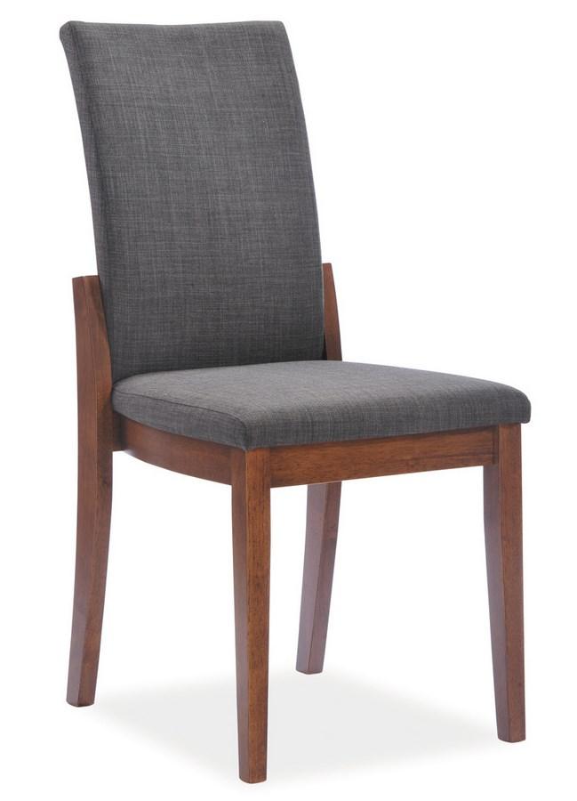 Jídelní čalouněná židle CESARIO šedá/ořech
