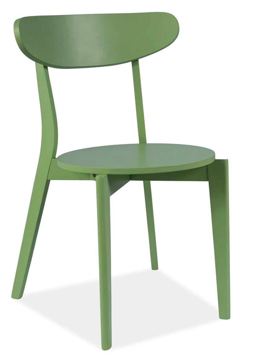 Jídelní dřevěná židle CORAL zelená