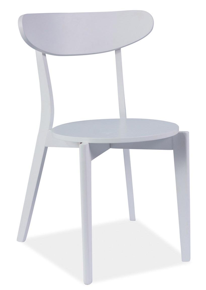 Jídelní dřevěná židle CORAL bílá