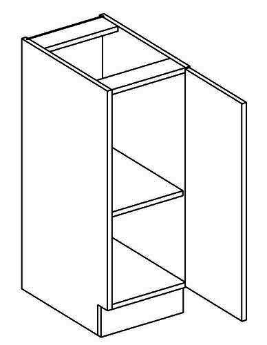 D30P dolní skříňka jednodvéřová MERLIN
