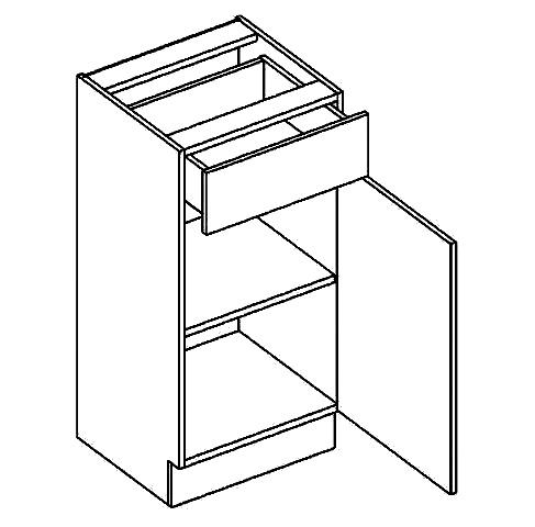 D40/S1 dolní skříňka se zásuvkami MORENO kaštan