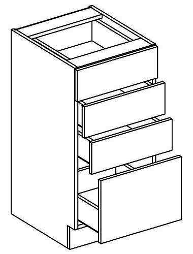 D40S4 dolní skříňka se zásuvkami NORA de LUX hruška