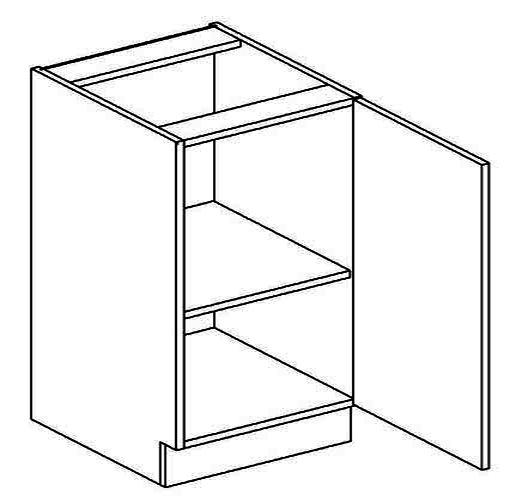D50P dolní skříňka jednodvéřová MERLIN