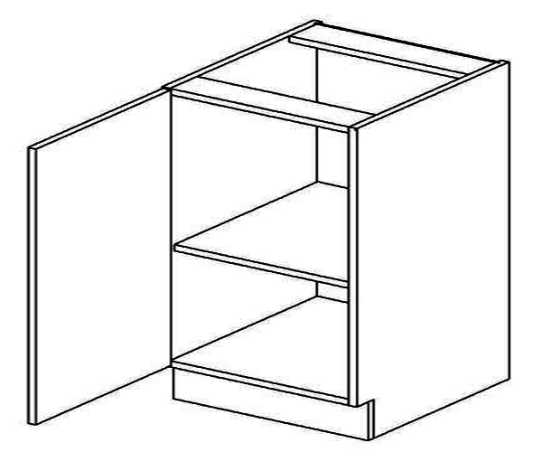 D60L dolní skříňka jednodvéřová MERLIN