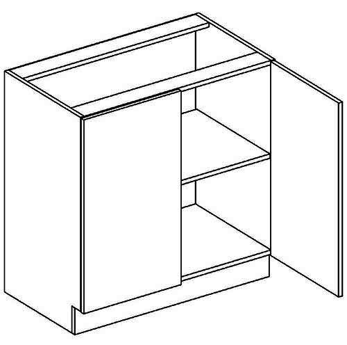 D80 dolní skříňka dvojdvéřová MERLIN
