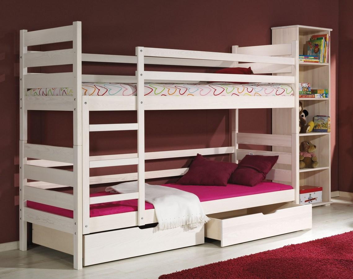 Dětská postel DAREK poschoďová (Barva: dol moření ořech)