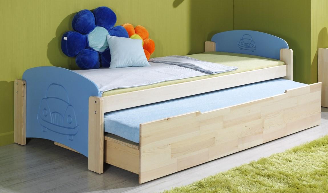 Dětská postel JAN 2 vysouvací (Barva: dol moření ořech)