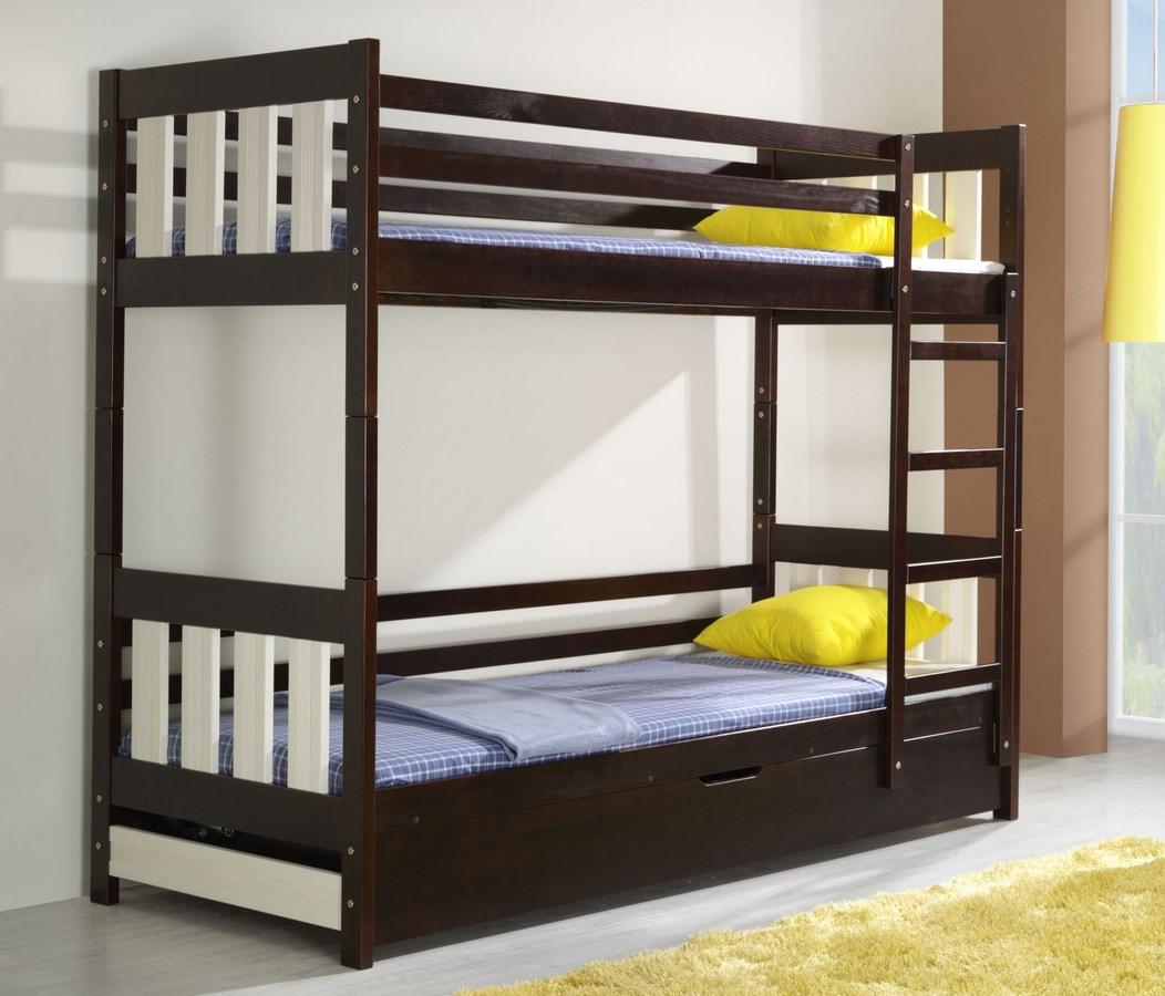 Dětská postel CASPER poschoďová (Barva: dol moření ořech)