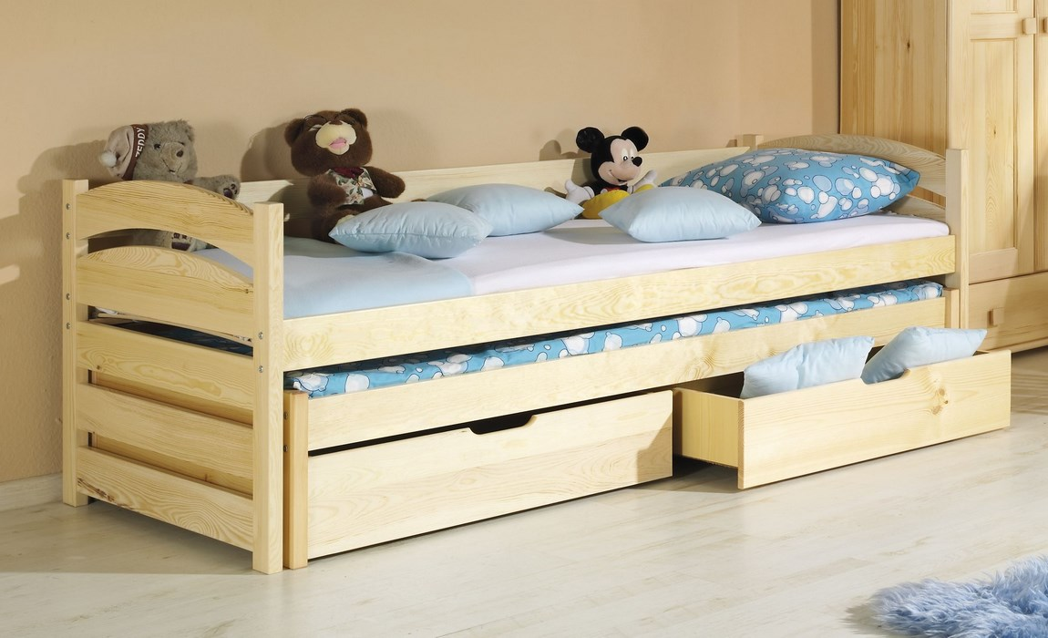 Dětská postel TONČA vysouvací (Barva: dol moření ořech)
