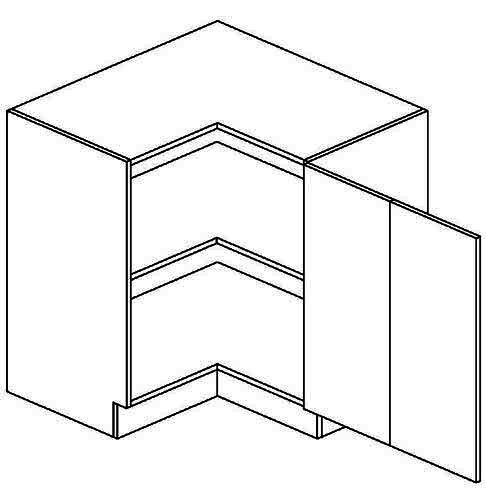 DRPP dolní skříňka rohová FLOWERS 80x80 cm