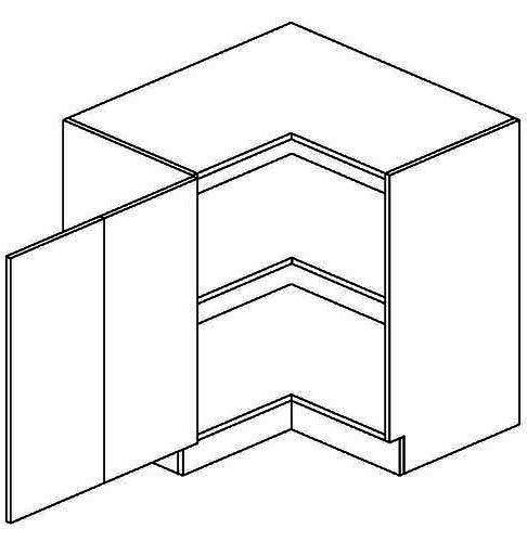 DRPL dolní skříňka rohová FLOWERS 90x90 cm