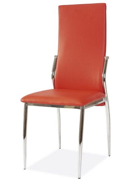 Jídelní čalouněná židle BOSSINI červená
