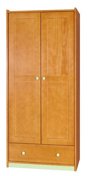 BOROVICE D-SA2 šatní skříň (Barva: dol moření ořech)