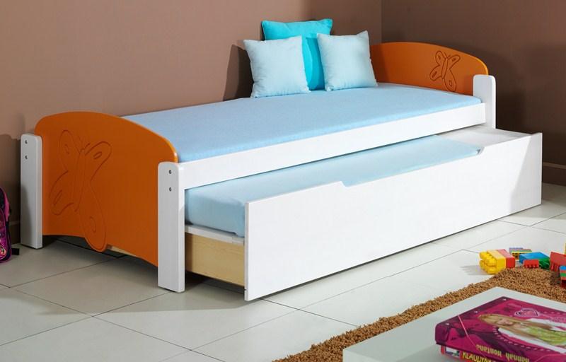 Dětská postel MÁNIČKA 2 vysouvací (Barva: dol moření ořech)