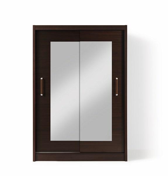 OPTIMAL BIS 2DL šatní skříň se zrcadlem wenge + parfém zdarma Značkový parfém dle vlastního výběru