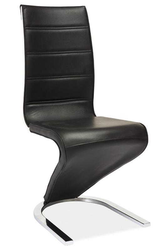 Jídelní čalouněná židle H-134 černá/bílá