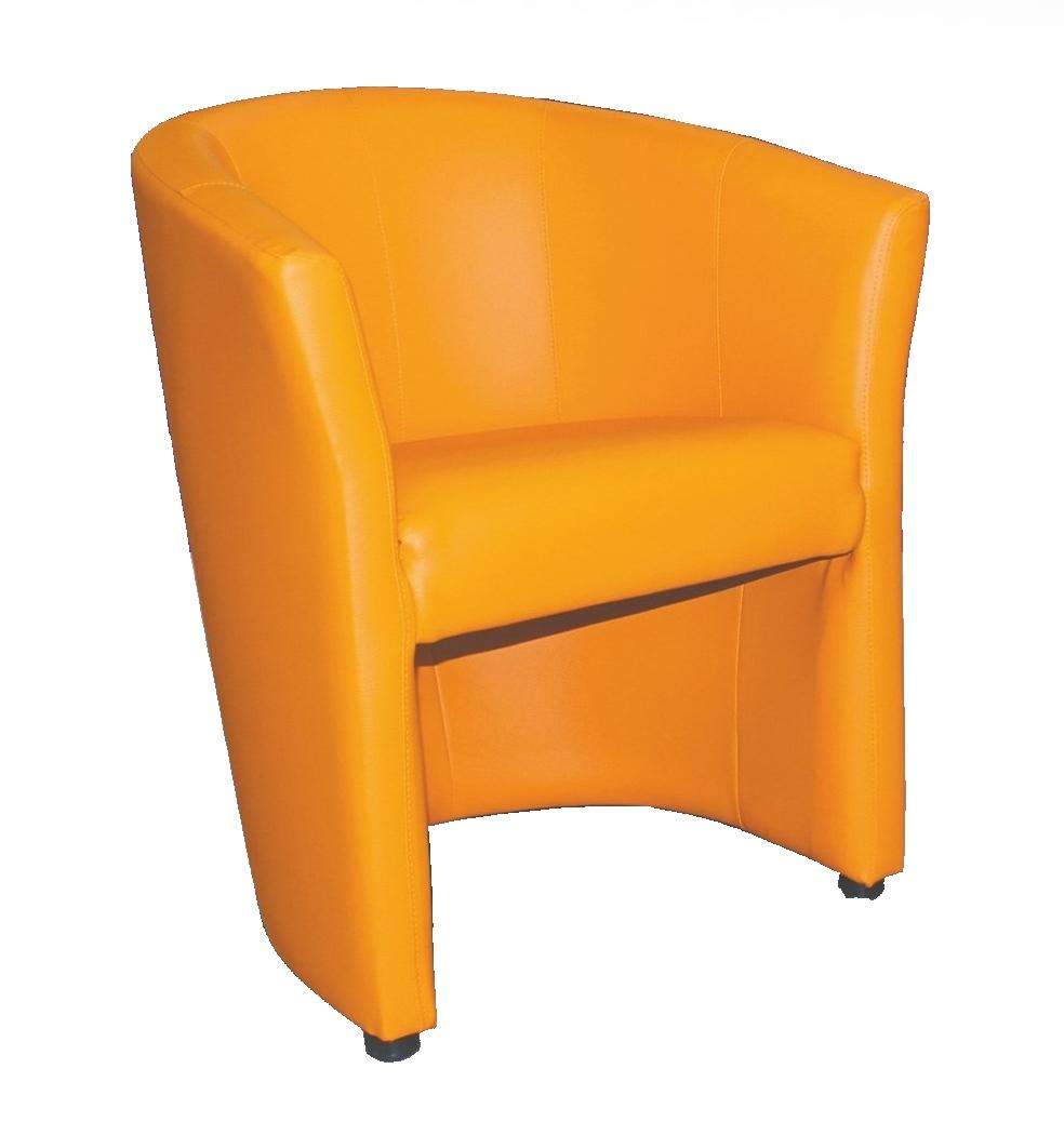 Čalouněné křeslo KUBELEK oranžová