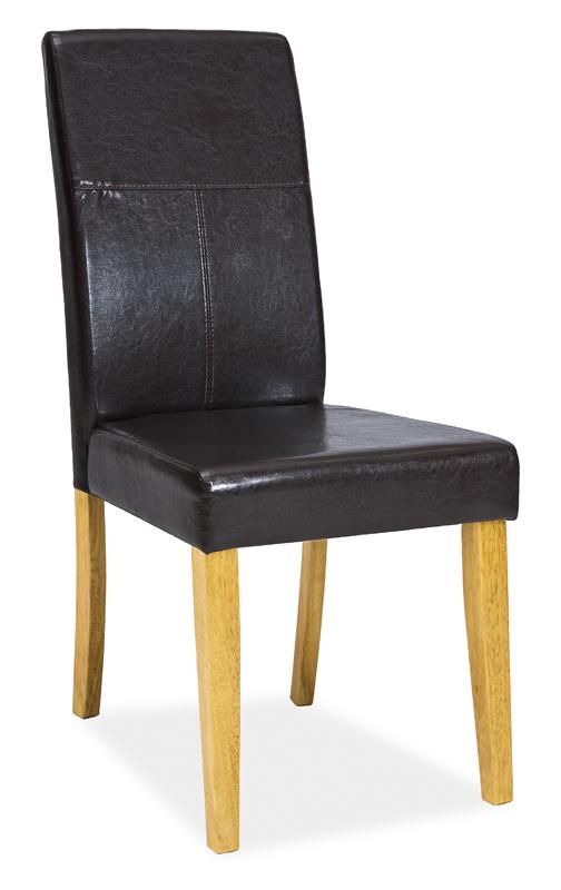 Jídelní čalouněná židle C-114 dub/tmavě hnědá