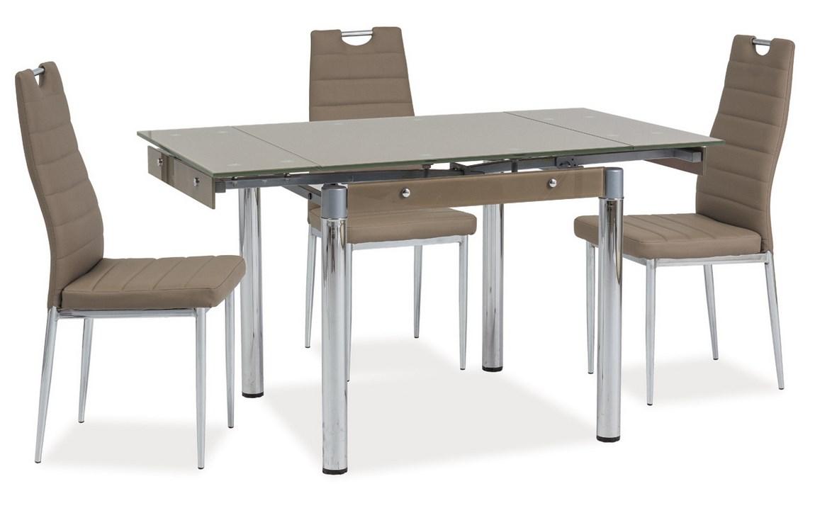 Jídelní stůl GD-083 rozkládací tmavě béžový