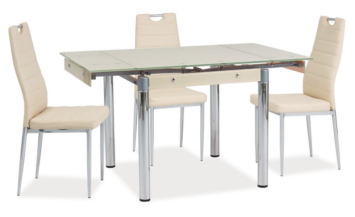 Jídelní stůl GD-083 rozkládací krémový