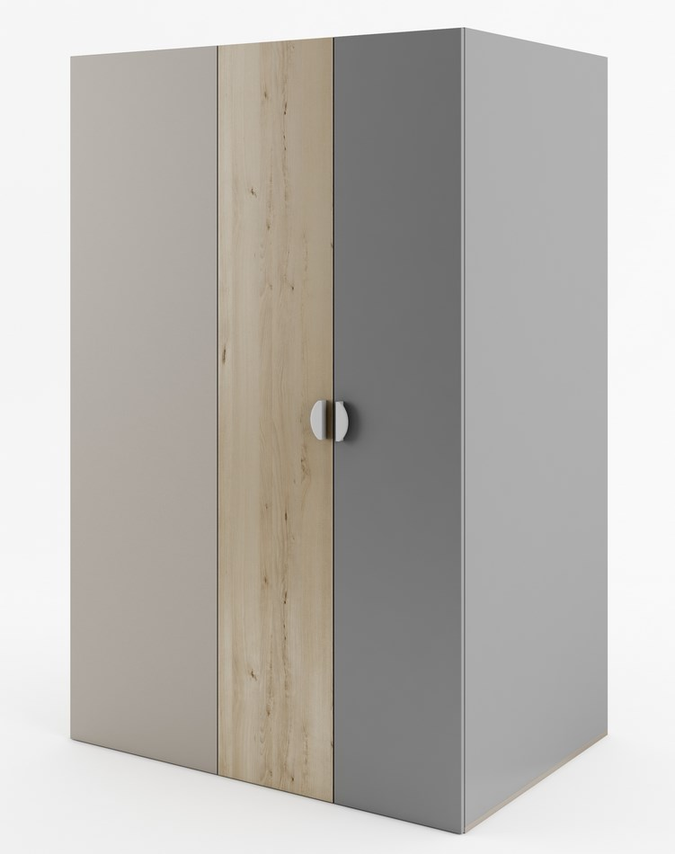 Rohová šatní skříň s osvětlením FRAME FR-00P