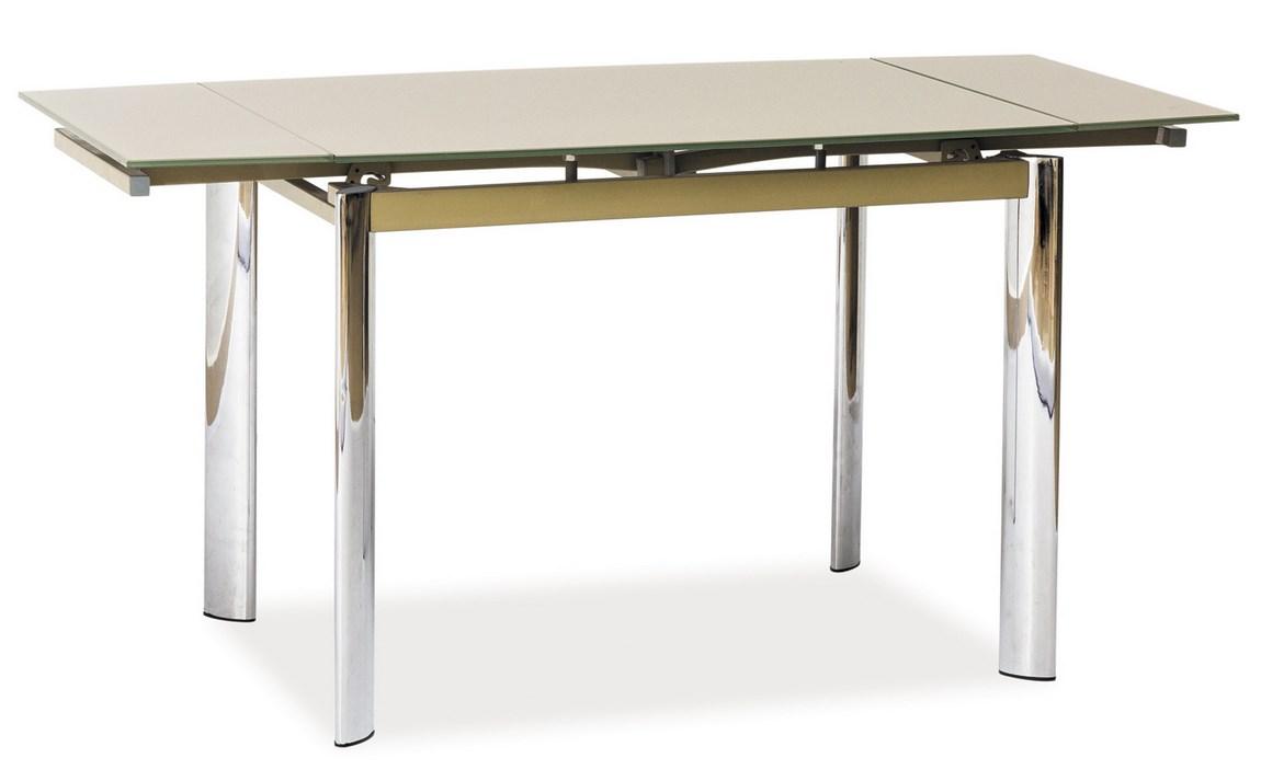 Jídelní stůl GD-019 rozkládací tm. béžový
