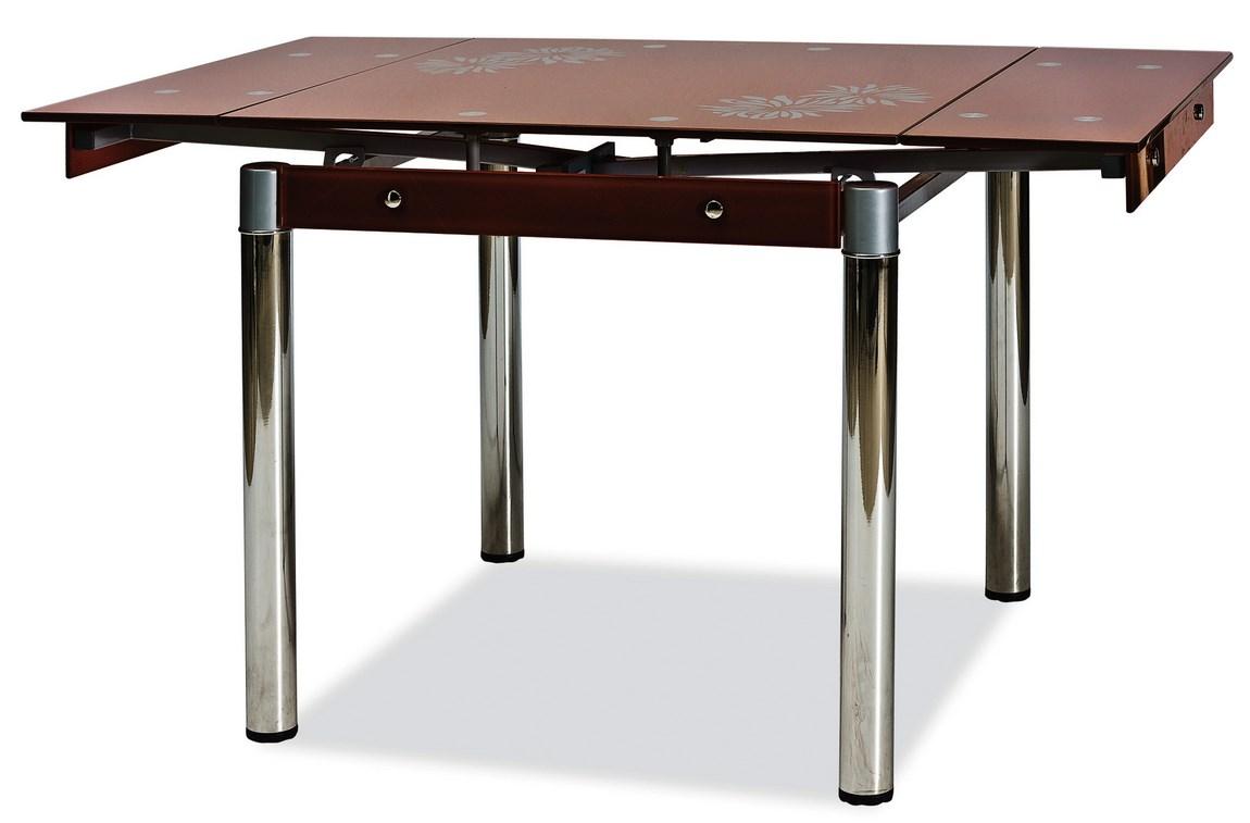 Jídelní stůl GD-082 rozkládací hnědý