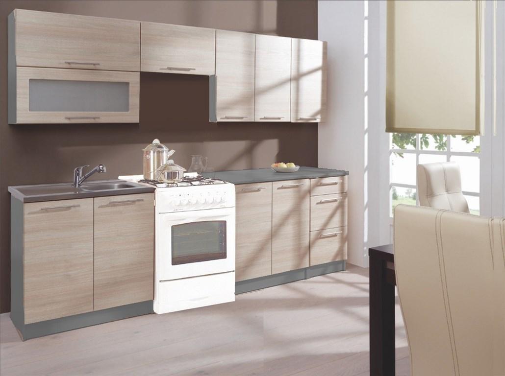 Kuchyně GOBI 240 dub sonoma/popel