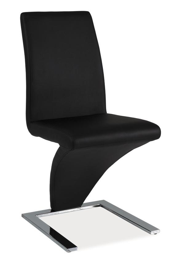 Jídelní čalouněná židle H-010 černá