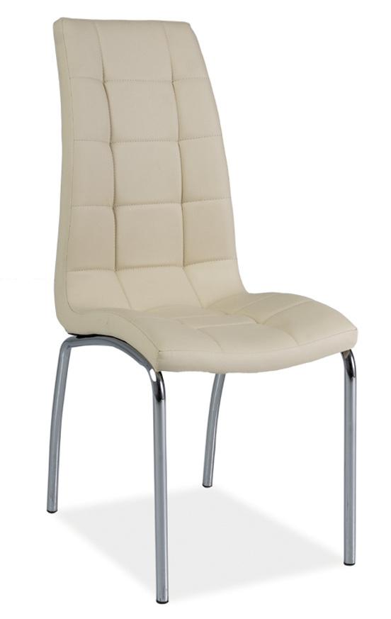 Jídelní čalouněná židle H-104 krémová