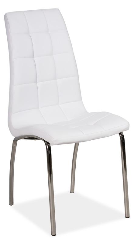 Jídelní čalouněná židle H-104 bílá