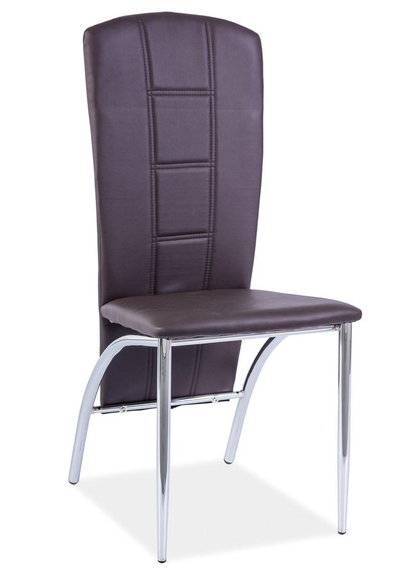 Jídelní čalouněná židle H-120 hnědá