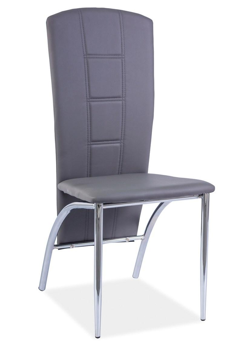 Jídelní čalouněná židle H-120 šedá