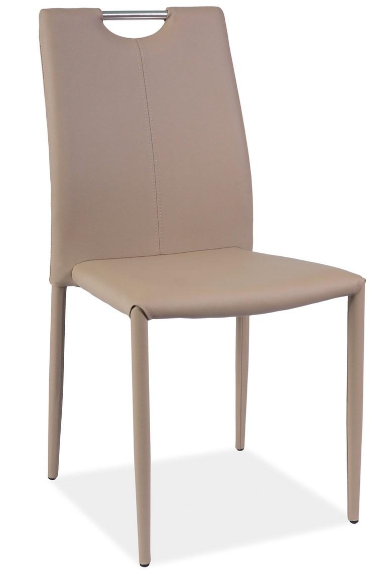 Jídelní čalouněná židle H-322 tmavě béžová