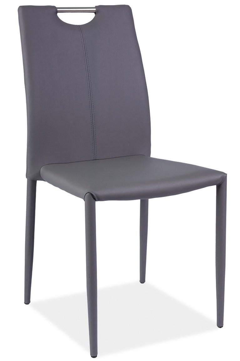 Jídelní čalouněná židle H-322 šedá