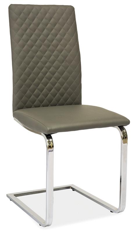 Jídelní čalouněná židle H-370 šedá
