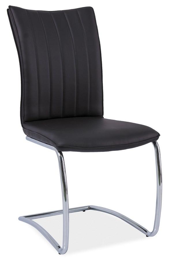 Jídelní čalouněná židle H-455 černá