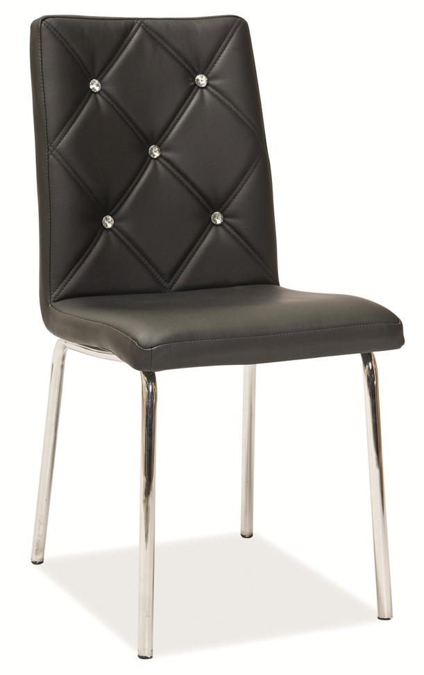 Jídelní čalouněná židle H-500 černá