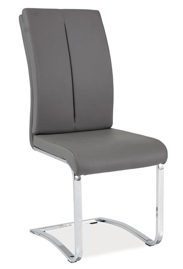 Jídelní čalouněná židle H-543 šedá