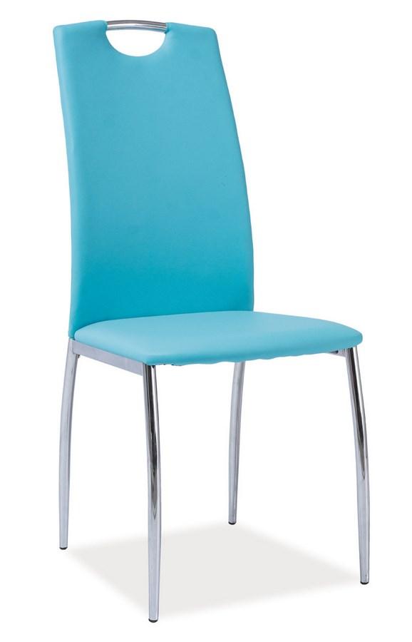 Jídelní čalouněná židle H-622 modrá